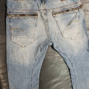 G Star Arc Zip 3D slim fit Zalton Jeans w/ zippers